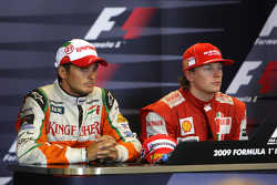 Giancarlo Fisichella, Force India F1 Team, Kimi Raikkonen, Scuderia Ferrari