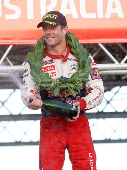 Podium: provisional winner and final second Sébastien Loeb