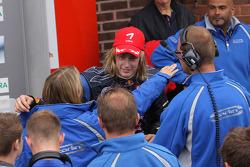 Race winner Brendon Hartley, Carlin Motorsport, Dallara F308 Volkswagen