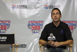 Erik Darnell takes questions from the media about taking over the ride from Bobby Labonte of the Academy Ford Fusion and the No. 96 Yates Racing