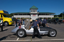 The W154 makes it's first walk to a track since 1939