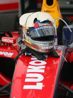 The helmet of Robert Wickens