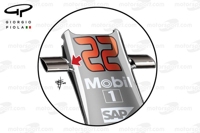 Les caméras de la McLaren