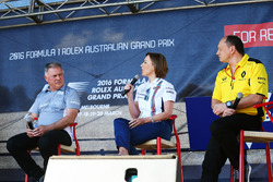 Dave Ryan, Director de carreras de carreras de Manor, Claire Williams, Williams diputado Director, Frederic Vasseur, Renault Sport F1 Team Racing Director