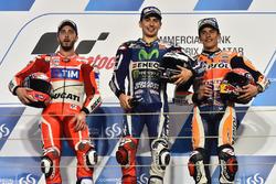 Podium: El ganador, Jorge Lorenzo, Movistar Yamaha MotoGP, Yamaha; segundo lugar, Andrea Dovizioso, Ducati Team, Ducati; tercer lugar, Marc Marquez, Repsol Honda Team, Honda