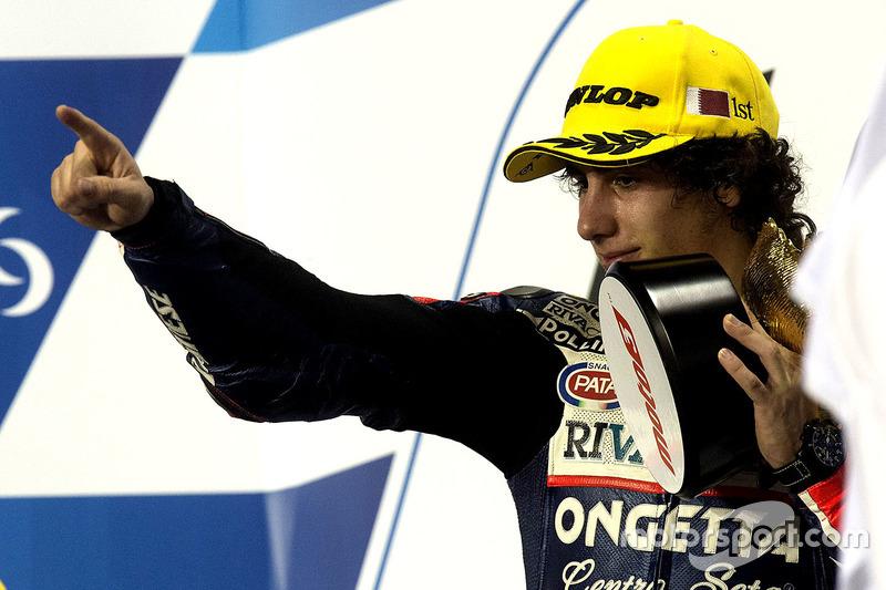 Podio: il vincitore Niccolò Antonelli, Ongetta-Rivacold, Honda