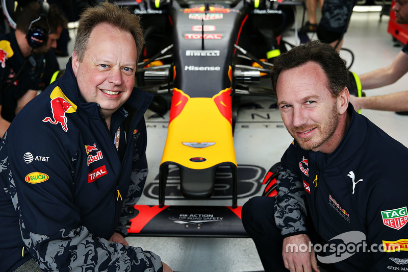 Andy Palmer, CEO d'Aston Martin et le Team Principal de Red Bull Racing, Christian Horner