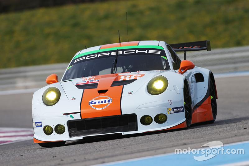 #86 Gulf Racing Porsche 911 RSR: Michael Wainwright, Adam Carroll, Benjamin Barker