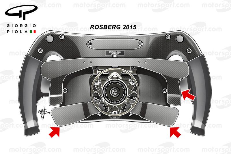 Volante 2015 de Rosberg, vista trasera