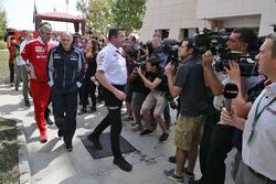 Maurizio Arrivabene, Ferrari Team Principal, Franz Tost, Scuderia Toro Rosso Team Principal and Eric Boullier, McLaren Racing Director