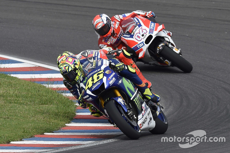 Rossi perd le contact