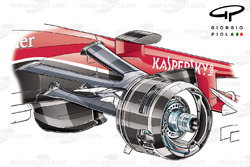 Ferrari SF15-T freno delantero
