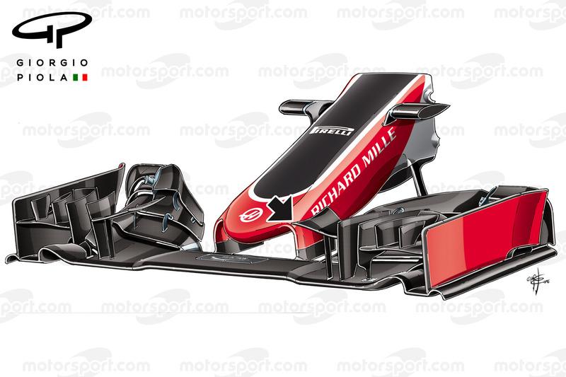 Haas VF-16 ala anteriore, Gran Premio della Cina