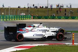 Valtteri Bottas, Williams FW38, und Felipe Massa, Williams FW38