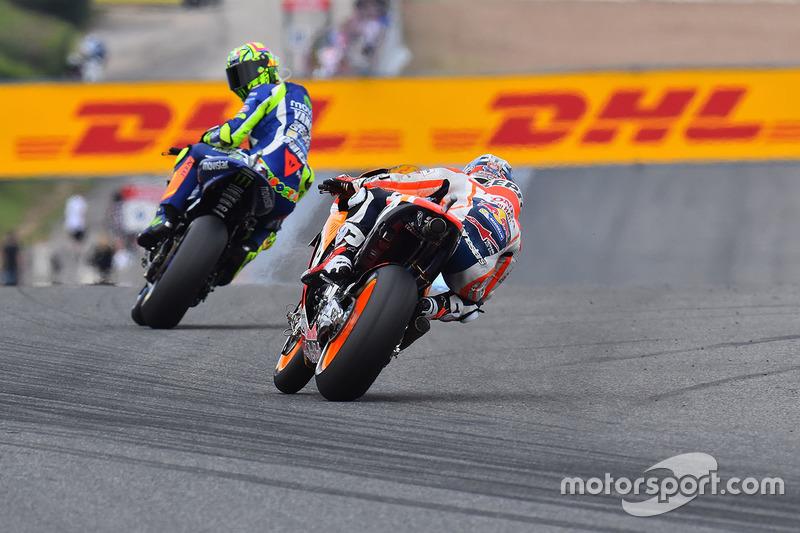 Valentino Rossi, Yamaha Factory Racing, und Dani Pedrosa, Repsol Honda Team