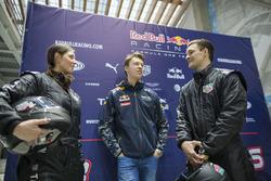 Daniil Kvyat, Red Bull Racing with Alena Zavarziva and Vic Wild