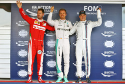 Polesitter: Nico Rosberg, Mercedes AMG F1 Team, second place Sebastian Vettel, Ferrari, third place Valtteri Bottas, Williams