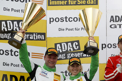 Podium: second place #50 YACO Racing, Audi R8 LMS: Philip Geipel, Rahel Frey