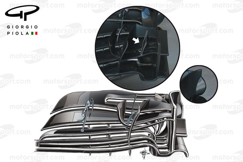 Neuer Frontflügel für den McLaren MP4-31