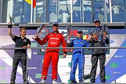 Podium: 2. Pepe Oriola, Team Craft-Bamboo, Seat León TCR; 1. Pellinen, West Coast Racing, Honda Civic TCR; 3. Dusan Borkovic, B3 Racing Team Hungary, Seat León TCR