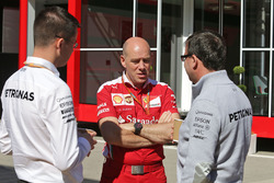 Jock Clear, Ferrari Engineering Director with Mercedes engineers