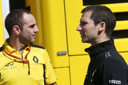 (L to R): Cyril Abiteboul, Renault Sport F1 Managing Director with Remi Taffin, Renault Sport F1 Engine Technical Director