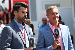 Steve Jones, canal 4 presentador de F1 David Coulthard, Red Bull Racing y Scuderia Toro asesor / canal 4 Commentato F1r
