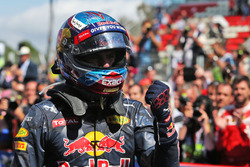 Winnaar Max Verstappen, Red Bull Racing viert in parc ferme