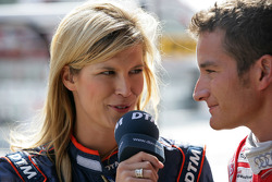 Verena Wriedt DTM TV in interview with Timo Scheider, Audi Sport Team Abt Audi A4 DTM