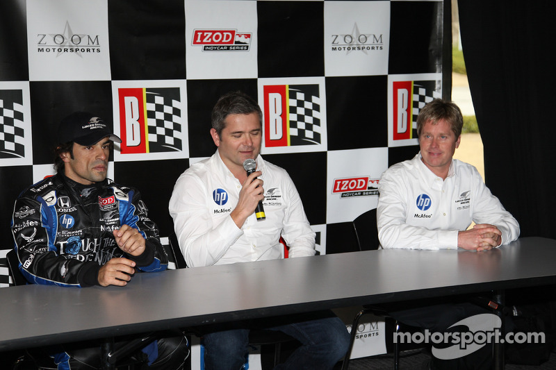 de Ferran Luczo Dragon Racing conférence de presse avec Raphael Matos andet Gil de Ferran