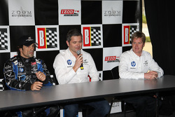 de Ferran Luczo Dragon Racing press conference with Raphael Matos and Gil de Ferran