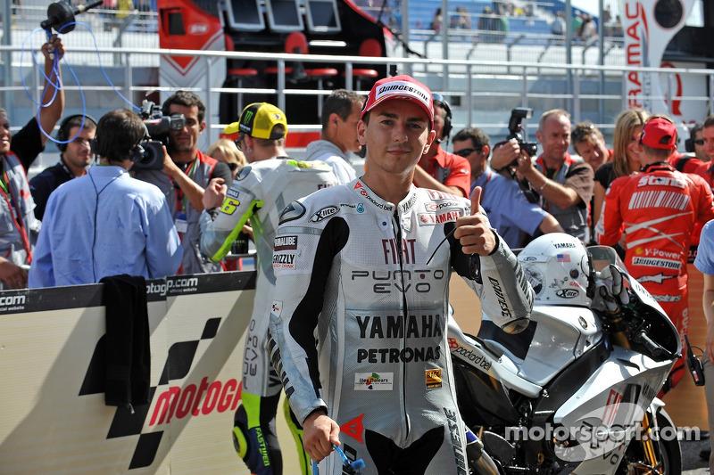 Ganador de la pole Jorge Lorenzo, Fiat Yamaha Team
