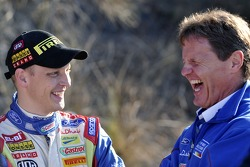 Mikko Hirvonen and Malcolm Wilson share a joke