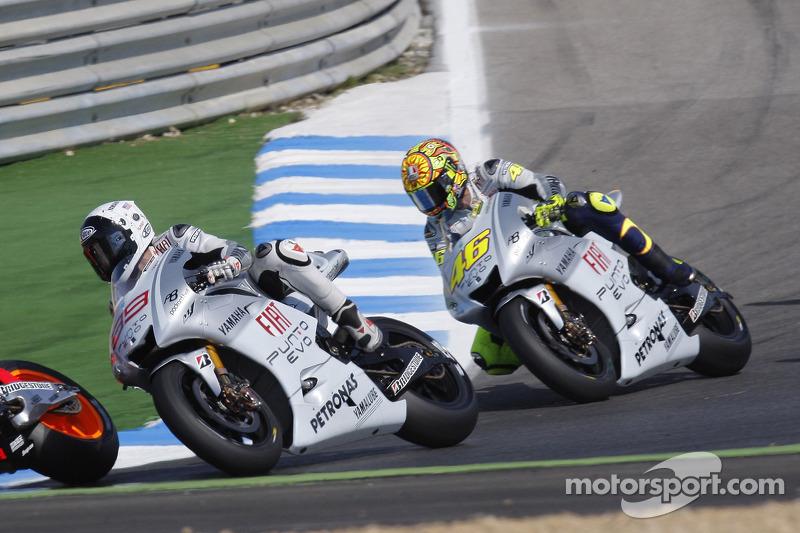 Valentino Rossi and Jorge Lorenzo, Yamaha - Portuguese GP 2009