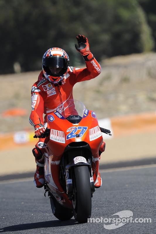 Segundo lugar Casey Stoner, Ducati Marlboro Team