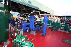 Stobart VK M-Sport Ford Rally Team service area