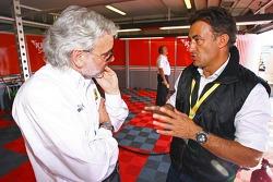 Amato Ferrari and Jean Alesi