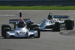 #10 Manfredo Rossi di Montelera Brabham BT44; #37 Christophe d'Ansembourg Williams FW07/C