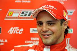 Felipe Massa, Scuderia Ferrari, after for his first F1 test since his accident