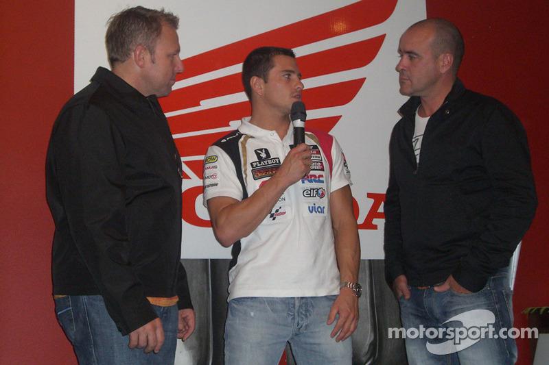 Randy De Puniet, LCR Honda MotoGP, with guests