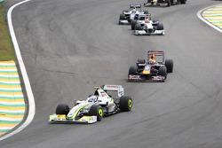 Rubens Barrichello, BrawnGP leads the field
