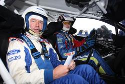 Jari-Matti Latvala with former BBC Top Gear presenter Quentin Willson