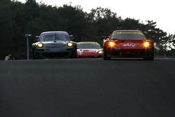 #56 CRS Racing Ferrari F430: Andrew Kirkaldy, Rob Bell, #58 Trackspeed Porsche 911 GT3 RSR: Sascha Maassen, David Ashburn
