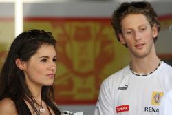 Romain Grosjean, Renault F1 Team ve kız arkadaşı, Marion Jolles