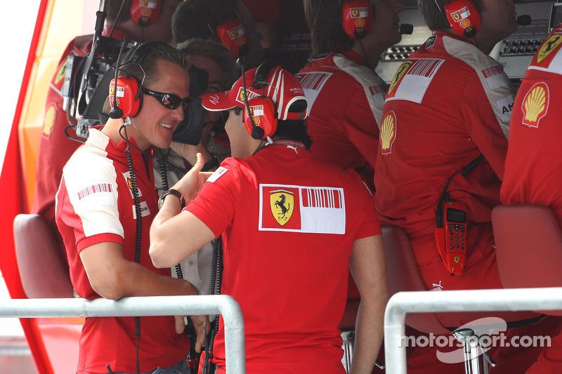 Michael Schumacher, Testrijder, Scuderia Ferrari, Felipe Massa, Scuderia Ferrari