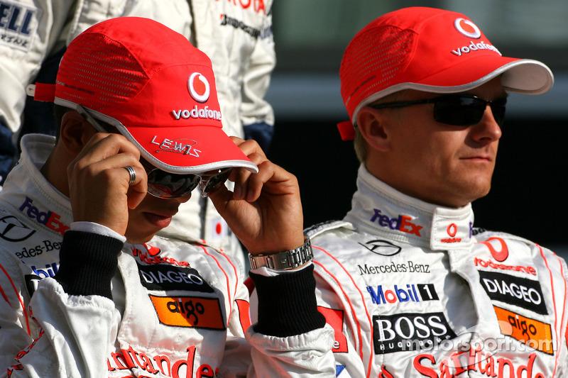 Lewis Hamilton, McLaren Mercedes y Heikki Kovalainen, McLaren Mercedes