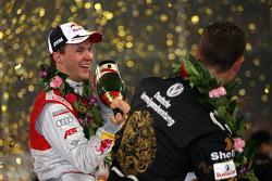 Podium: Race of Champions winner Mattias Ekström with second place Michael Schumacher