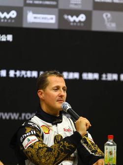 Coletiva de imprensa: segundo colocado Michael Schumacher