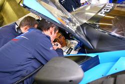 French Prime Minister François Fillion drives the Peugeot 908 HDi FAP, winner of the last 24 Hours
