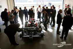 GP3 Series team have a look at the GP3 Series car
